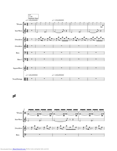 Lights Journey Chords by Separate Ways Worlds Apart Sheet And Notes By Journey Musicnoteslib