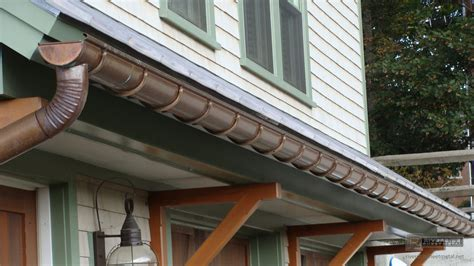 gutters copper aluminum zinc half round k style box
