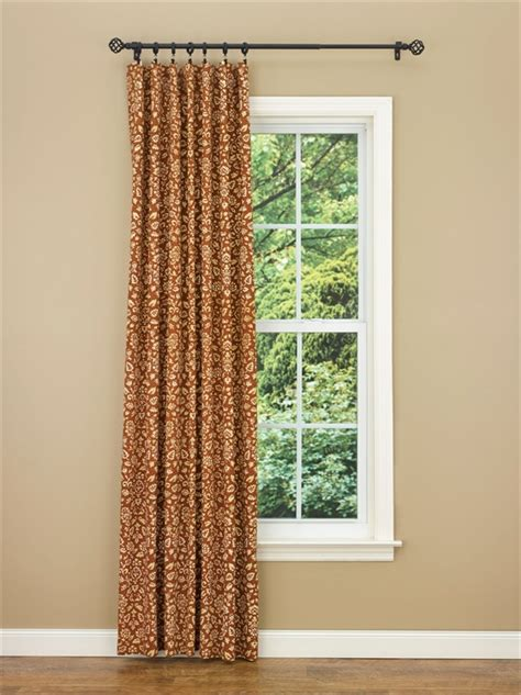 one curtain panel terracotta aubrey lined single curtain panel 56 quot x 84 quot