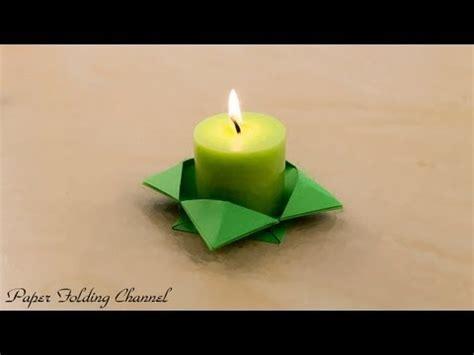 Origami Candle - origami candlestick kgt