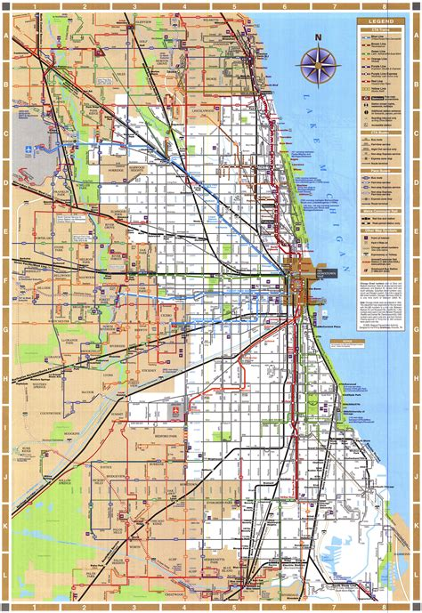 Maps Chicago by Chicago Train Map Chicago Illinois Mappery