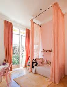 Salmon Colored Curtains Designs Ceiling Mounted Bed Curtains Apartment Therapy