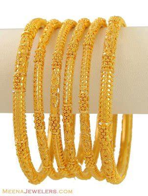 Bangles India Size L 24 22k gold bangles set of 6 bast9526 22 karat indian