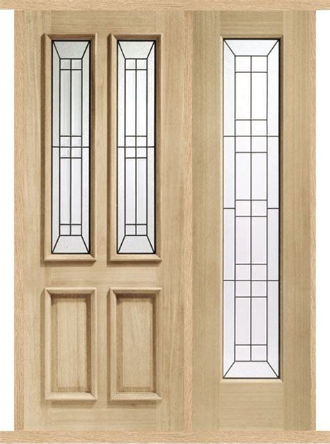 Curtains For Front Door Side Panels Malton Oak External Side Panel Door Set Modern Doors
