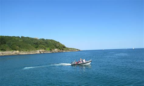 blue water powerboat level 2 water sports activities in st mawes the idle rocks