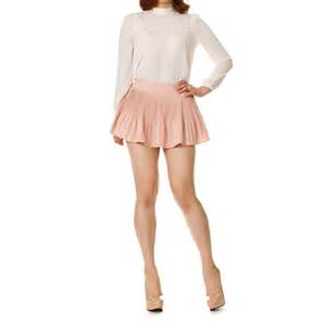 pleated a line flared mini skirt with shorts korean