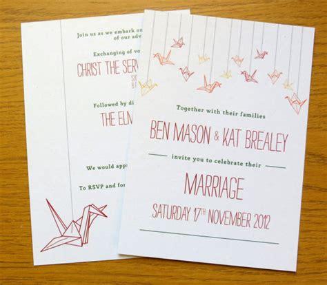 Origami Crane Wedding Invitations - interfaith wedding ideas we love paper cranes 187