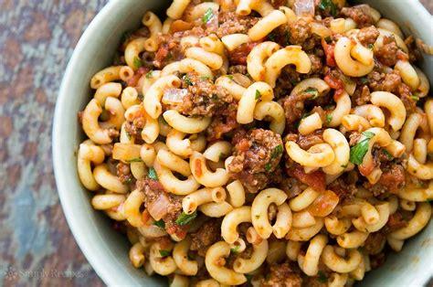hamburger and macaroni recipe simplyrecipes com