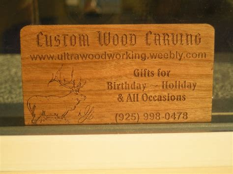 woodworking business custom made business cards by woodworking custommade