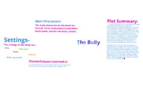 the bully book report flush book report by twinkle surti on prezi