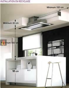 hotte de plafond avec 233 clairage par leds de 140cm de