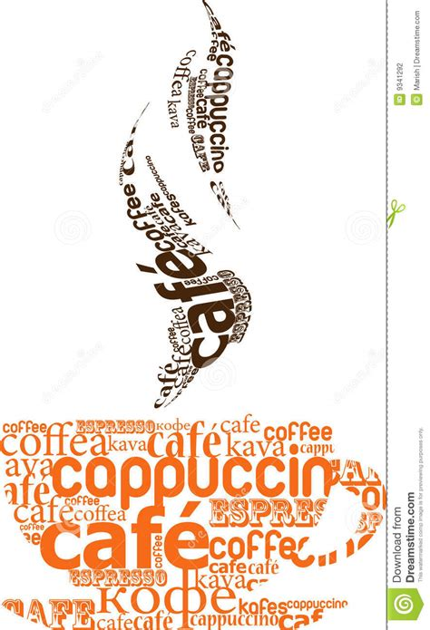 cup of coffee made from typography stock vector image