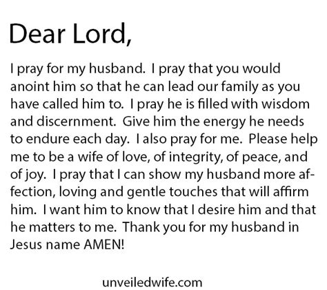 for my husband prayer showing my husband affection