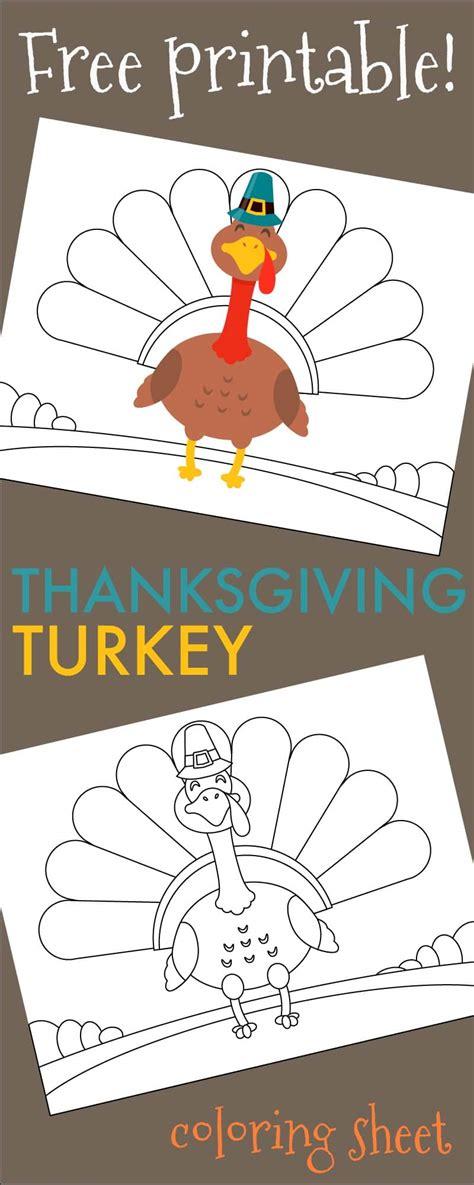 printable stand up turkey thanksgiving turkey coloring sheet free printable 730