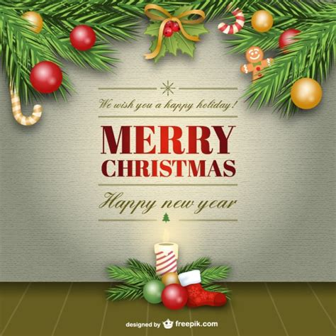 elegant merry christmas card vector vector