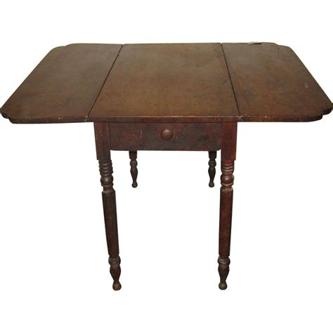 Wood Drop Leaf Table Antique American Pembroke Wood Drop Leaf Table From Dynastycollections On Ruby