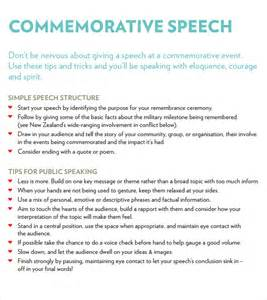 sample commemorative speech examples 6 documents in pdf