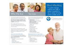 Health Care Brochure Template by Community Health Home Care Brochure Thinkbox Creative