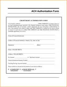 Ach Form Template by Ach Authorization Form Template Letter Ach Authorization