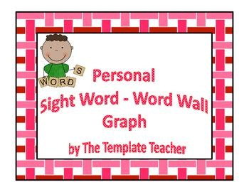 vocabulary word wall template personal sight words word wall template graph freebie by