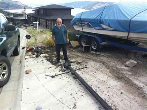 boat bumpers kelowna partiers hit truck boat house west kelowna news