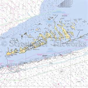 florida key west lower keys big torch key big pine key nautical chart decor