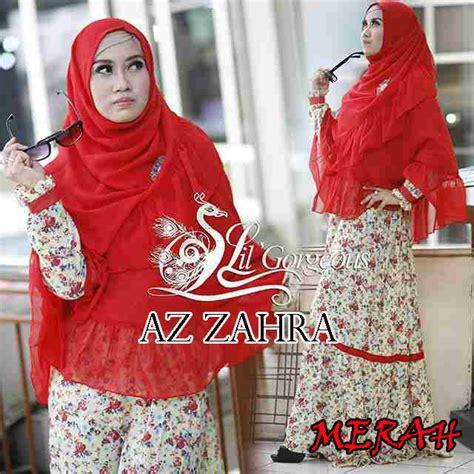Gamis Zahra Hijau By Nchi az zahra merah baju muslim gamis modern