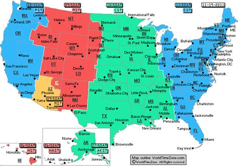 us map with major cities and time zones eastern time zone map with cities