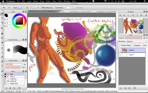 painting free software firealpaca free and painting software