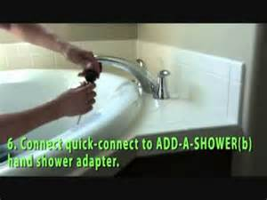 Bathtub Shower Head Attachment How To Add A Shower To Your Roman Tub Faucet Youtube