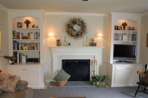 painted fireplace bookcases existing mantel artisan