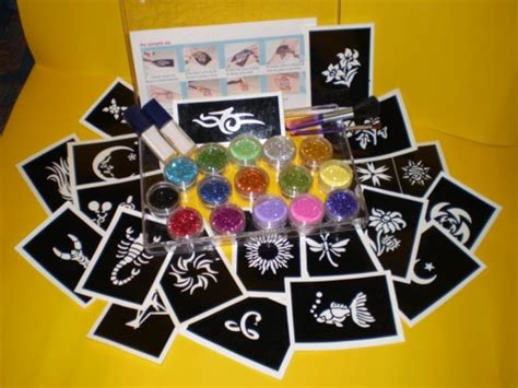 glitter tattoo kit polly s crafts glitter tatoo s