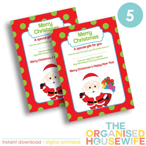 magazine subscription gift certificate the organised