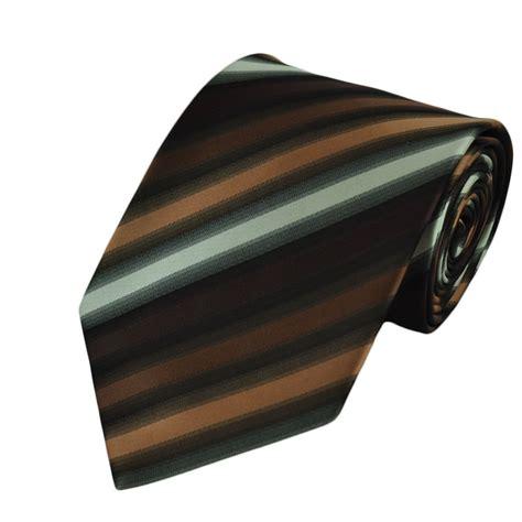 brown pattern tie shades of brown striped tie from ties planet uk