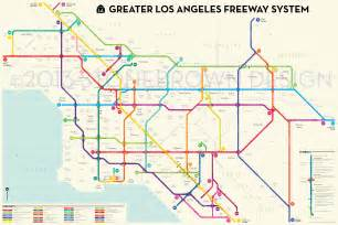 La Metro System Map by This Is What The La Freeway System Would Look Like As A