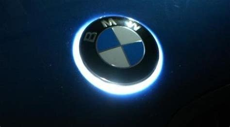 glowing bmw emblem the ultimate aftermarket part white led bmw badge
