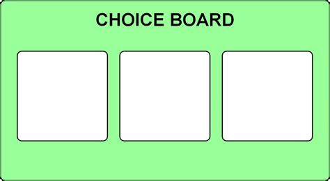 choice board 3 options