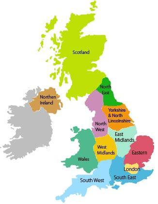 mapping data onto uk's 12 regions