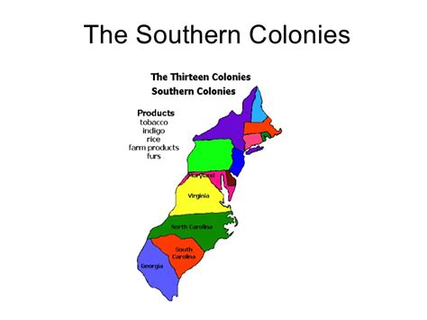 www southern the southern colonies