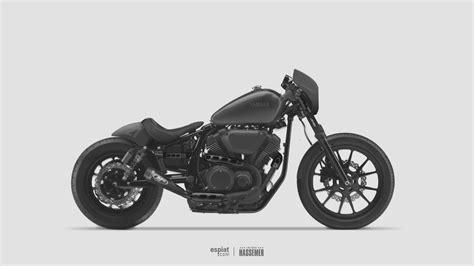 Coffee Chopper Motorrad by Custom Yamaha Xv950r Cafe Bobber Concept Espiat