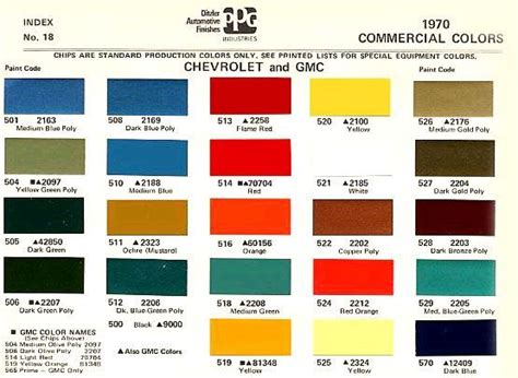 1969 chevrolet colors chevy truck colors by iris