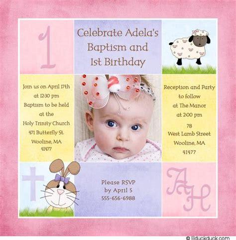 1st Birthday And Christening Baptism Invitation Sle Baptism 1st Communin Ideas 1st Birthday And Christening Invitation Templates