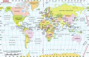 World Map Latitude And Longitude by World Map With Latitude And Longitude