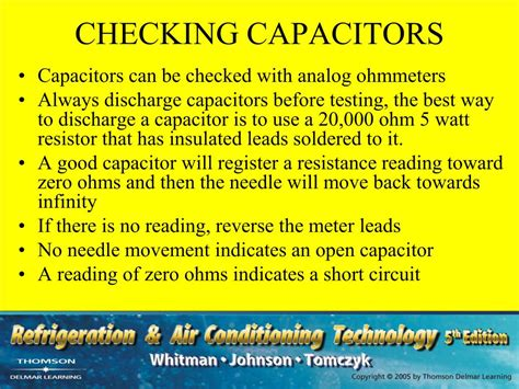 capacitor zero resistance ppt section 4 electric motors unit 20 troubleshooting electric motors powerpoint presentation