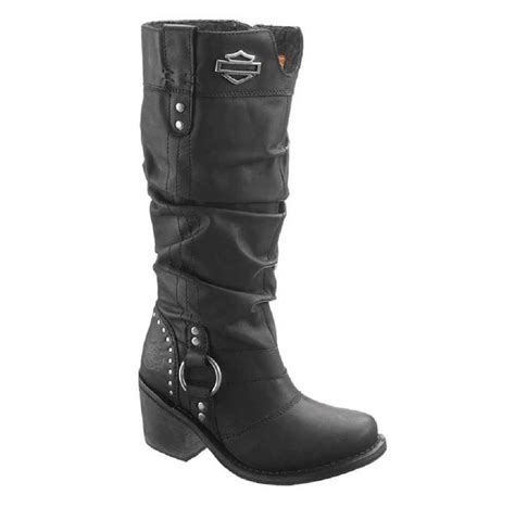 ladies black motorcycle boots harley davidson women s jana black boots 13 inch shaft 3