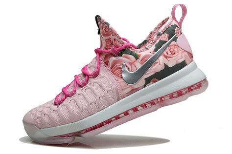 nike pink basketball shoes nike kd 9 pink flora pearl basketball shoes 2016 for