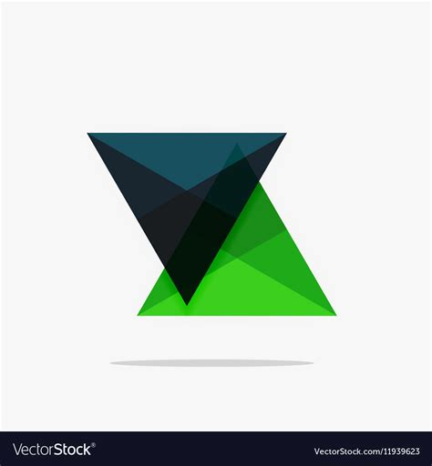 triangle shaped business card template blank triangle layout business template vector by