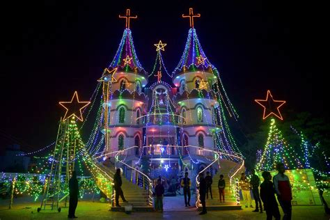 picture christmas lights shining around the world abc news