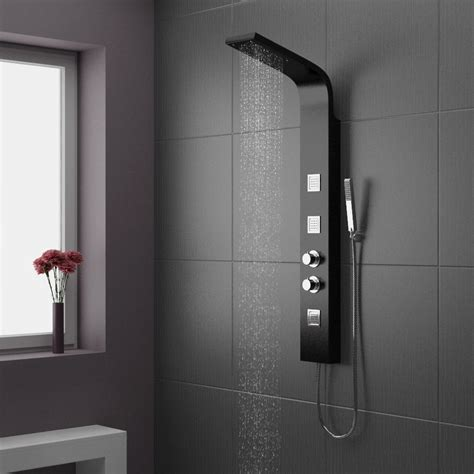 Bath Tile Ideas by Maverick Thermostatic Shower Panel Black Victorian