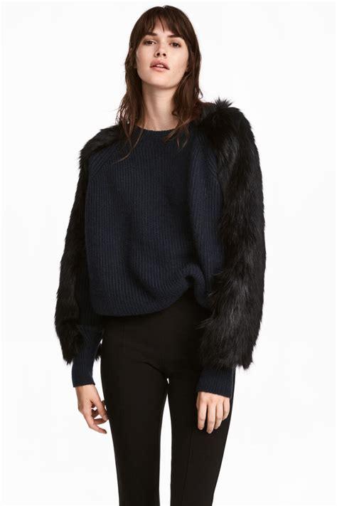 Hm Top Knit Cleo Fit L knit sweater blue sale h m us
